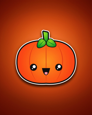 Cute Orange Pumpkin papel de parede para celular para Nokia Asha 300