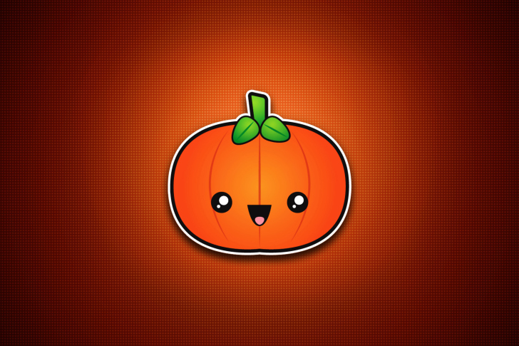 Cute Orange Pumpkin wallpaper