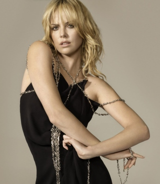 Free Charlize Theron In Little Black Dress Picture for Nokia X2-02