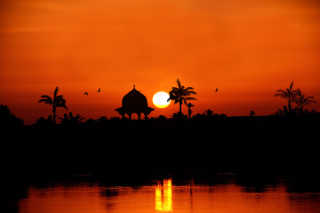 Egypt Nile Sunset Background for Android, iPhone and iPad