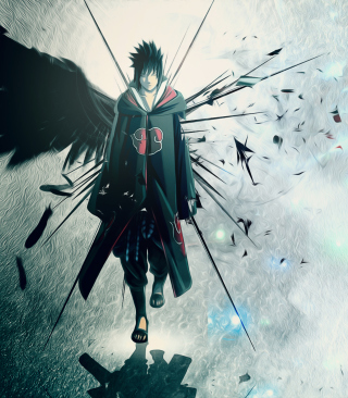 Naruto, Sasuke Background for Nokia Asha 306