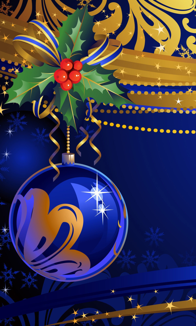 Screenshot №1 pro téma Christmas tree toy Blue Ball 768x1280