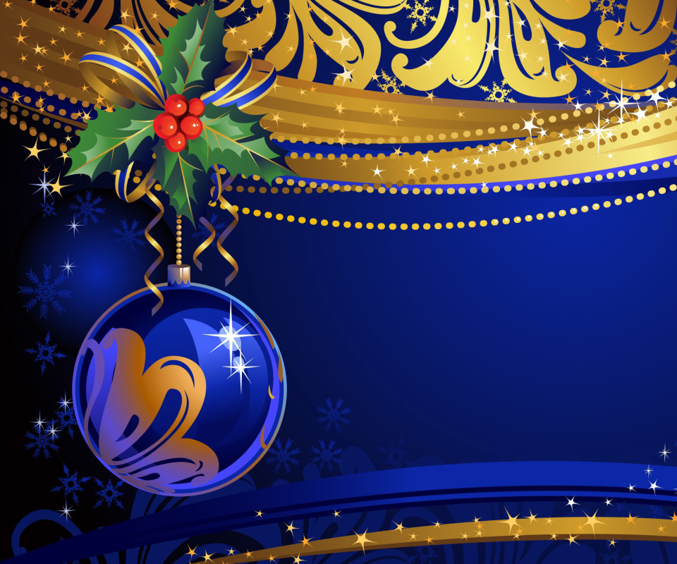 Screenshot №1 pro téma Christmas tree toy Blue Ball 960x800
