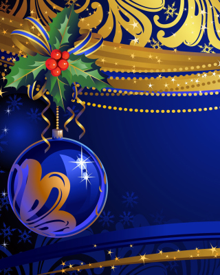Christmas tree toy Blue Ball sfondi gratuiti per iPhone 6