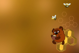 Winnie-The-Pooh And Honey Wallpaper for Android, iPhone and iPad
