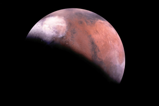 Mars Eclipse Wallpaper for Android, iPhone and iPad