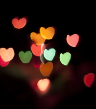 Free Hearts Bokeh Picture for 640x1136