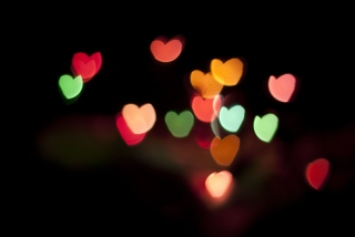 Hearts Bokeh Picture for Desktop 1280x720 HDTV