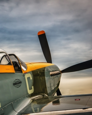 North American P 51 Mustang Air Fighter in World War 2 Background for HTC Titan