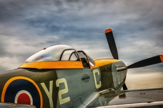 North American P 51 Mustang Air Fighter in World War 2 Background for Android, iPhone and iPad