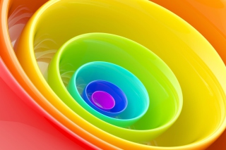 Rainbow Rings Background for Android, iPhone and iPad