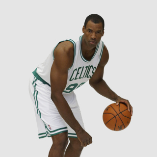 Jason Collins NBA Player in Boston Celtics - Obrázkek zdarma pro iPad mini