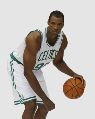 Jason Collins NBA Player in Boston Celtics - Obrázkek zdarma pro 240x400