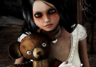 Girl With Teddy Bear sfondi gratuiti per cellulari Android, iPhone, iPad e desktop