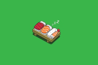 Free Sleeping Sushi Picture for Android, iPhone and iPad