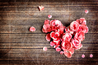 Heart Shaped Flowers Background for Android, iPhone and iPad