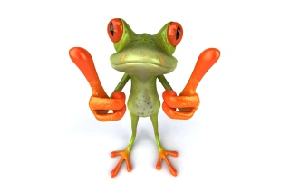 3D Frog Thumbs Up Wallpaper for Android, iPhone and iPad