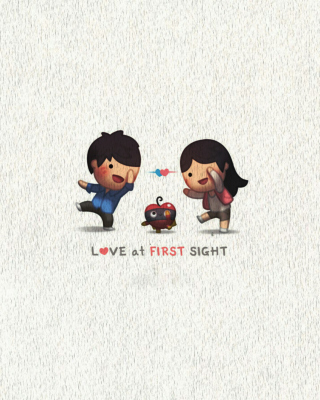 Love At First Sight Wallpaper for Nokia Asha 306