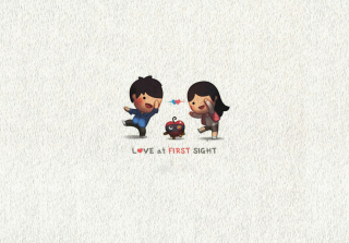 Love At First Sight sfondi gratuiti per Samsung Galaxy Note 2 N7100