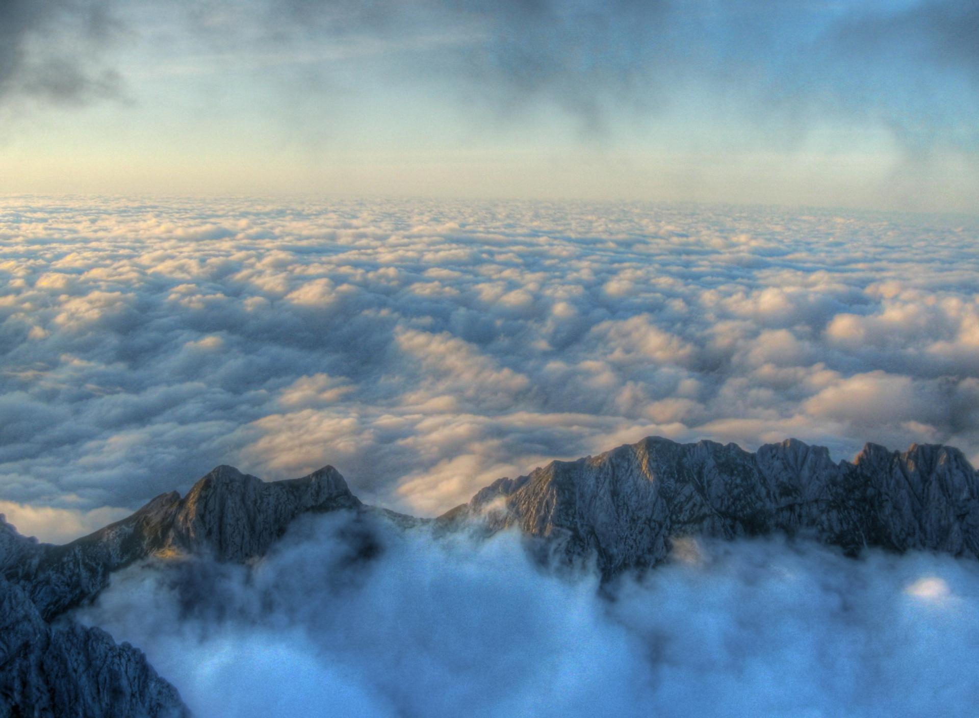 гора облака скачать