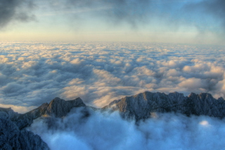 Fog above Andes sfondi gratuiti per cellulari Android, iPhone, iPad e desktop