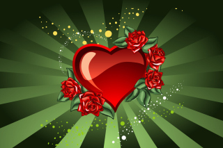 Saint Valentine's Day Heart Background for Android, iPhone and iPad