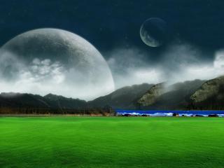 Moon Landscape para Nokia Asha 201
