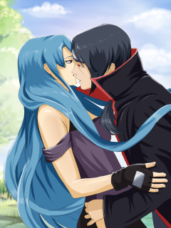 Uchiha Itachi and Akatsuki Kiss screenshot #1 240x320