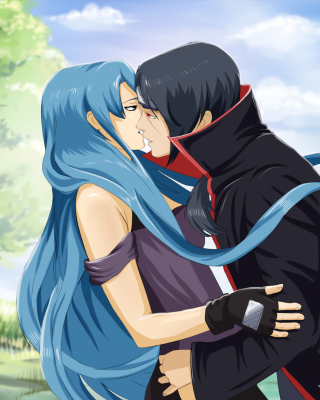 Free Uchiha Itachi and Akatsuki Kiss Picture for Nokia Asha 300