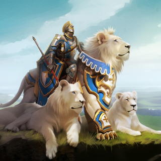 Free Knight with Lions Picture for iPad 3