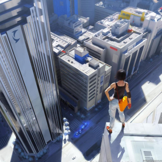 Girl On A Roof - Fondos de pantalla gratis para iPad 2