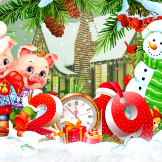2019 Pig New Year Chinese Horoscope sfondi gratuiti per iPad mini