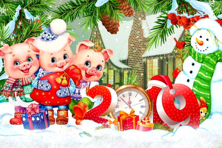 2019 Pig New Year Chinese Horoscope wallpaper