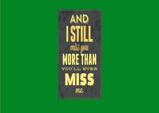 I Miss You Background for Android, iPhone and iPad