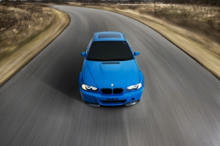 Bright Blue Bmw Background for Android, iPhone and iPad