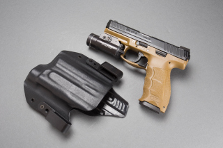 Pistols Heckler & Koch 9mm Background for Android, iPhone and iPad