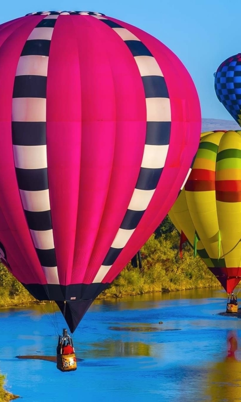 Sfondi Colorful Air Balloons 768x1280