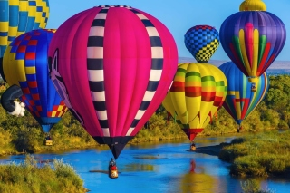 Colorful Air Balloons papel de parede para celular para Nokia Asha 201