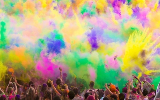 Festival Of Color Background for Android, iPhone and iPad