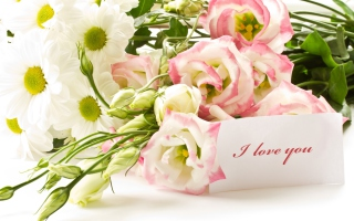 I Love You Bouquet Background for Android, iPhone and iPad