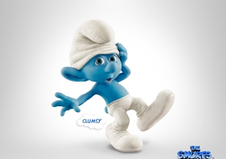 Clumsy Smurf Wallpaper for Android, iPhone and iPad