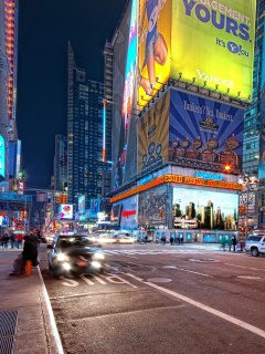 Screenshot №1 pro téma New York Night Times Square 240x320