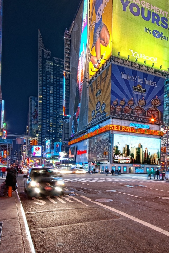 Screenshot №1 pro téma New York Night Times Square 640x960