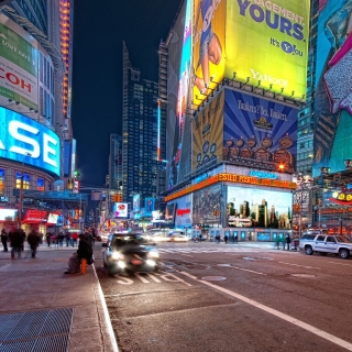 New York Night Times Square Background for iPad 3