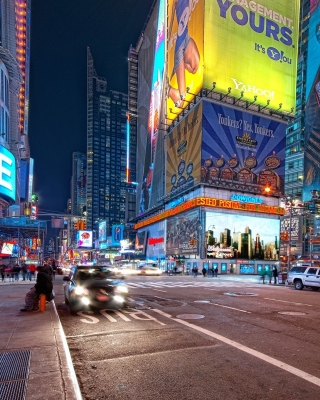 Free New York Night Times Square Picture for iPhone 5