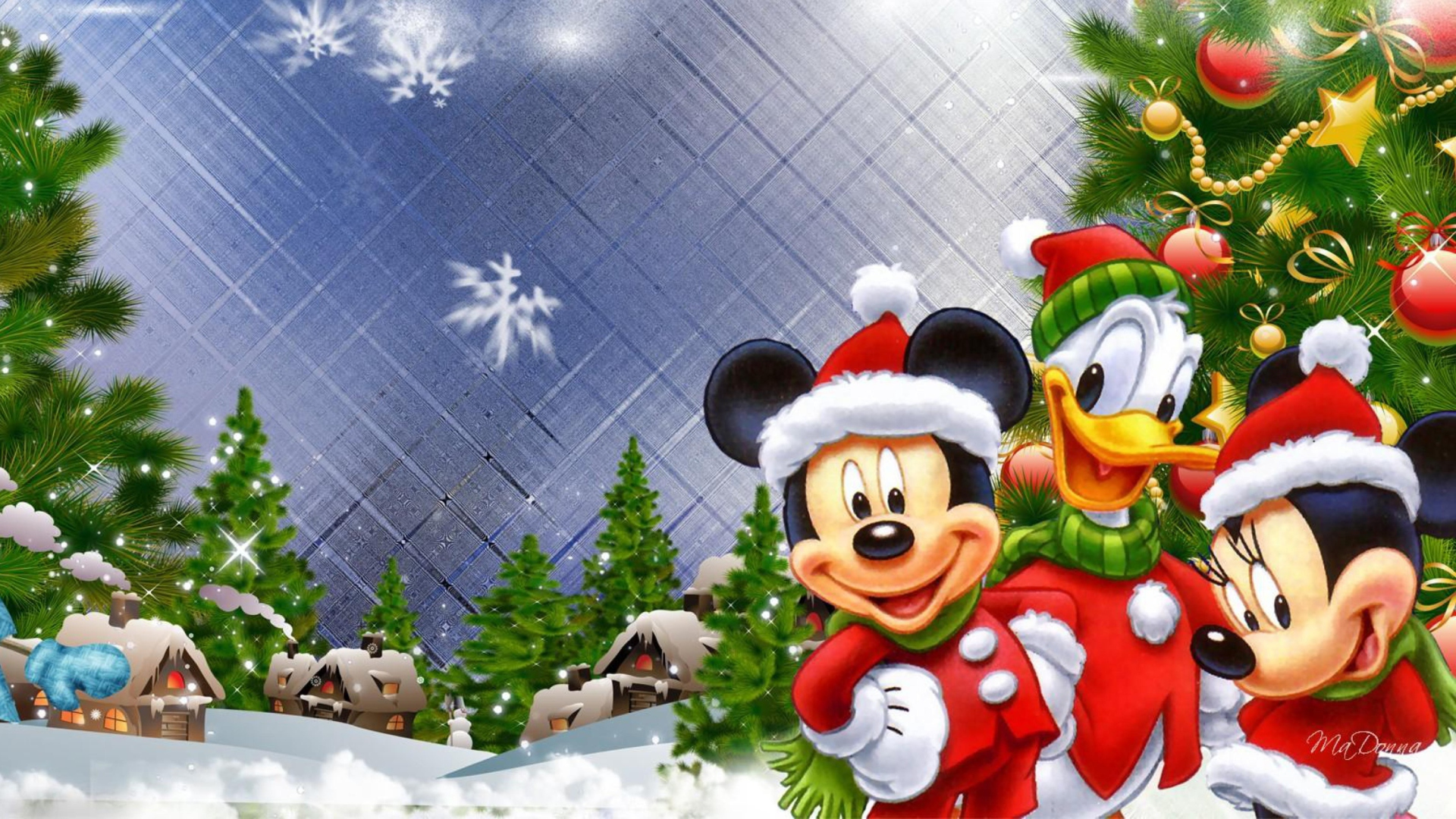 Mickey 39 s christmas wallpaper for desktop 1920x1080 full hd for Sfondi natalizi 1920x1080