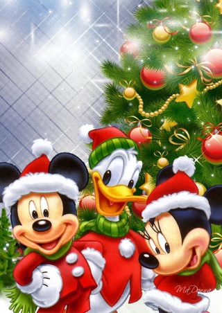 Mickey's Christmas Wallpaper for 176x220