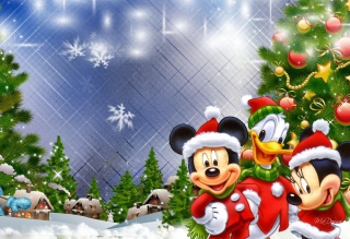 Mickey's Christmas Background for 1280x1024