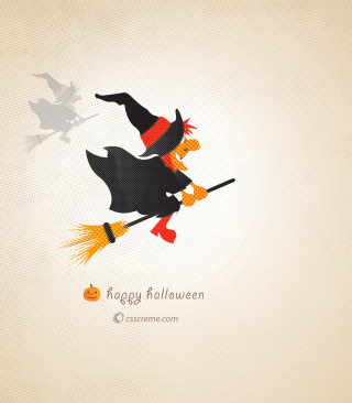 Halloween Witch Wallpaper for Nokia Asha 310