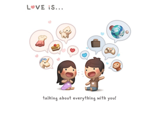 Love Is - Talking About Everything With You Wallpaper for Android, iPhone and iPad